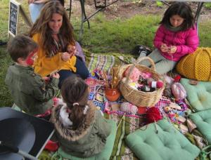 Knitting circle at the Festival of Forgotten Skills