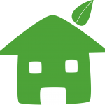 sustainable house vector graphic image