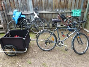 bike transport for the garden tour