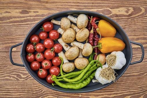 organic food sample